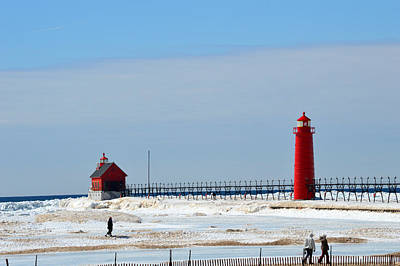 Design Pics - Lighthouse in Grand Haven by Linda Kerkau