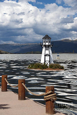 Lighthouse In Lake Dillon Art Print