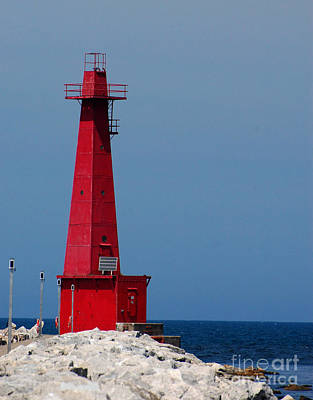 Wall Art - Photograph - Lighthouse In Muskegon by Susan Montgomery