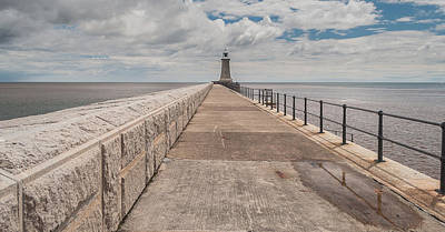 Lighthouse In North Shields Art Print