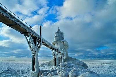 Photograph - Lighthouse In Saint Joseph Michigan by Dan Sproul