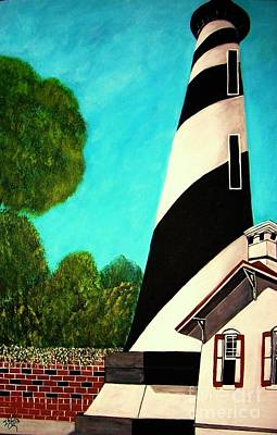 Painting - Lighthouse In San Augustine by Iris  Mora