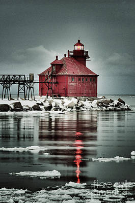 Photograph - Lighthouse In The Darkness by Mark David Zahn