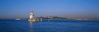 Leander Photograph - Lighthouse In The Sea With Mosque by Panoramic Images