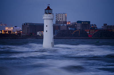 Photograph - Lighthouse In The Storm by Spikey Mouse Photography