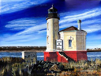 Oregon Lighthouse Painting - Lighthouse In Oregon by Timothy Hacker