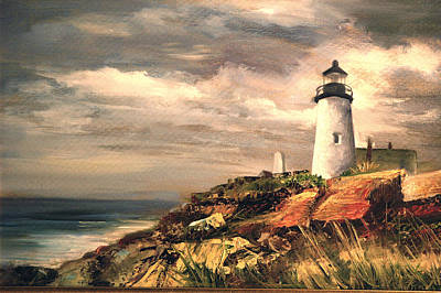 Painting - Lighthouse by Jolyn Kuhn