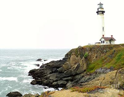 Art Print featuring the photograph Lighthouse Keeping Watch by Carla Carson