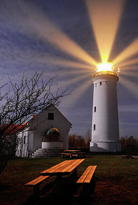 Light Beams Photograph - Lighthouse by Keller