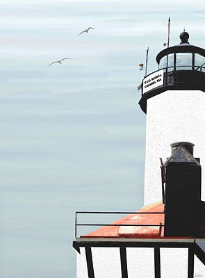 Lighthouse Art Print by Kristie Mercer