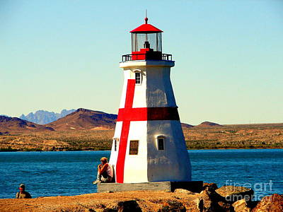 Lighthouse Lake Havasu Art Print by John Potts