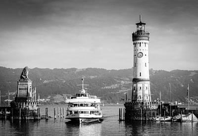Photograph - Lighthouse Lindau Lake Constance Germany by Matthias Hauser