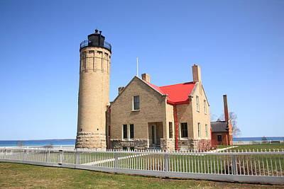 Lighthouse - Mackinac Point Michigan Art Print by Frank Romeo