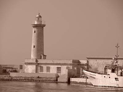 Lighthouse Marsala Art Print