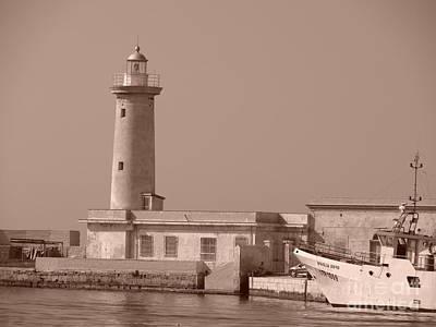 Lighthouse Marsala Art Print