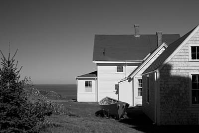 Fall Animals - Lighthouse Monhegan by Jean Macaluso
