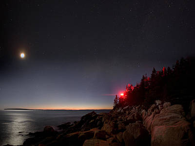 Photograph - Lighthouse Moon by Brent L Ander