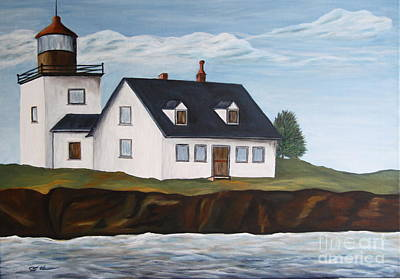 Lighthouse - New England Coast Sold Art Print by Christiane Schulze Art And Photography
