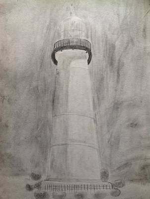 Drawing - Lighthouse by Noah Burdett
