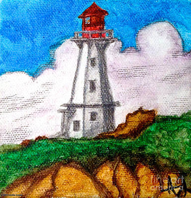 Painting - Lighthouse Nova Scotia by Anita Lewis
