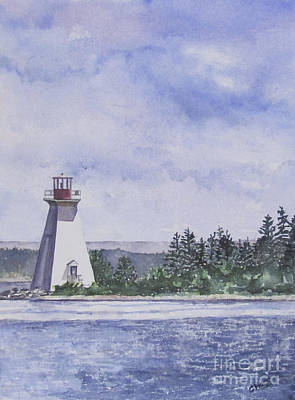 Painting - Lighthouse Nova Scotia by Carol Flagg