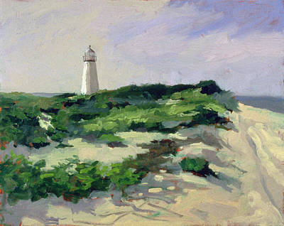 Lighthouse Sea Painting - Lighthouse  by Sarah Butterfield