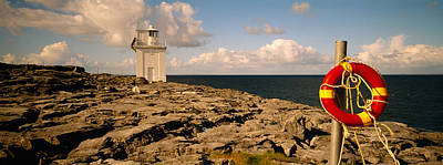 Burren Photograph - Lighthouse On A Landscape, Blackhead by Panoramic Images