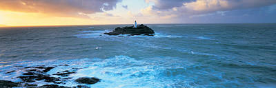 Lighthouse On An Island, Godvery Print by Panoramic Images