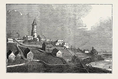 Lighthouse Drawing - Lighthouse On St by Litz Collection