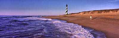 Hatteras Photograph - Lighthouse On The Beach, Cape Hatteras by Panoramic Images