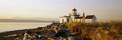 West Point Photograph - Lighthouse On The Beach, West Point by Panoramic Images