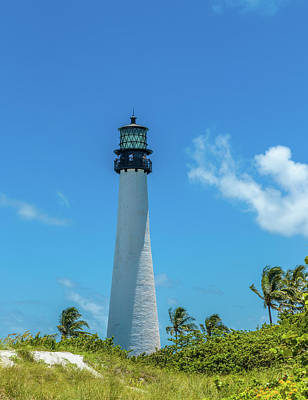Florida State Wall Art - Photograph - Lighthouse On The Coast, Bill Baggs by Panoramic Images