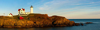 Cape Neddick Lighthouse Photograph - Lighthouse On The Coast, Cape Neddick by Panoramic Images