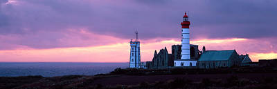Lighthouse On The Coast, Saint Mathieu Art Print by Panoramic Images