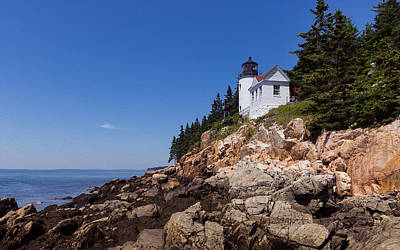 Photograph - Lighthouse On The Edge by John M Bailey