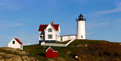 Cape Neddick Lighthouse Photograph - Lighthouse On The Hill, Cape Neddick by Panoramic Images