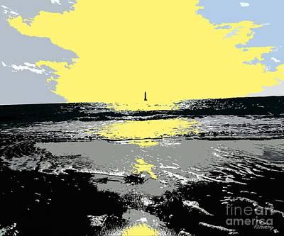 Lighthouse On The Horizon Art Print by Patrick J Murphy