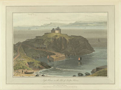 Lighthouse On The Isle Of Scalpa Art Print by British Library