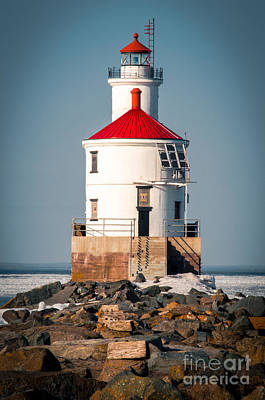 Photograph - Lighthouse On The Rocks by Mark David Zahn
