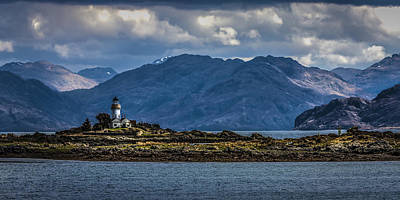 Photograph - Lighthouse Ornsay Isle Of Skye Scotland by Alex Saunders