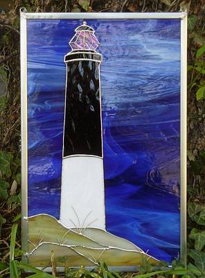 Glass Art - Lighthouse Panel by Karin Thue