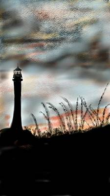 Lighthouse Drawing - Lighthouse by Pat Carafa