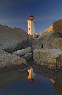 Peggys Cove Lighthouse Photograph - Lighthouse, Peggys Cove, Nova Scotia by Thomas Kitchin & Victoria Hurst