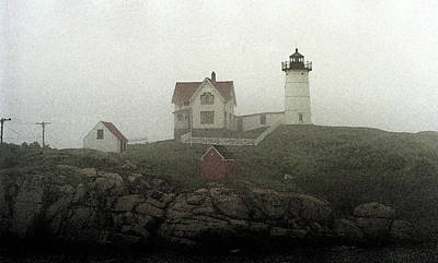 Coastal Maine Mixed Media - Lighthouse - Photo Watercolor by Frank Romeo