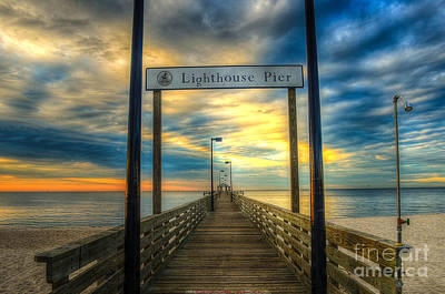 Art Print featuring the photograph Lighthouse Pier by Maddalena McDonald