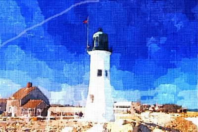 New England Lighthouse Painting - Lighthouse by Rachel Niedermayer