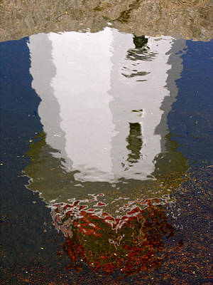 Photograph - Lighthouse Reflection 1 by Robert Lozen