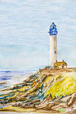 Monteray Bay Painting - Lighthouse Rt 1 by Catherine Blake