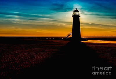 Photograph - Lighthouse Silhouette by Adrian Evans