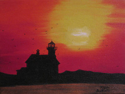 Lighthouse Silhouette Art Print